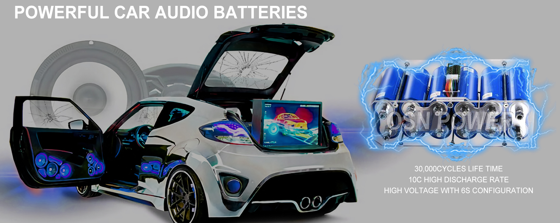 Power Car Audio Battery